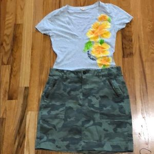 Old navy girls  army cargo skirt